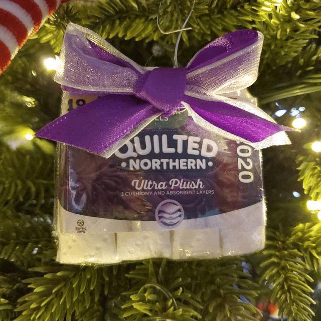Toilet paper shortage Christmas Ornament