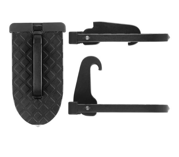 Car Pedals Supports Both Feet/'s Door Step For Multifunction Foldable Car Roof Rack Step VAIZA Car Step Hook