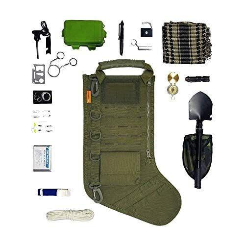 Gearrific taktischer Weihnachtsstrumpf Vorgefüllt mit Überlebensausrüstung!  Zweifellos einer der besten Weihnachtsgeschenke…    Überlebensgeschenk, Weihnachtsgeschenke für Ehemann, Tactical